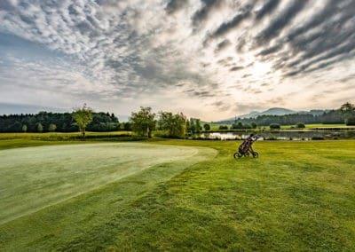 Golfplatz Abendstimmung